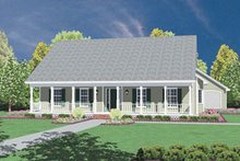 Dream House Plan - Traditional Exterior - Front Elevation Plan #36-169