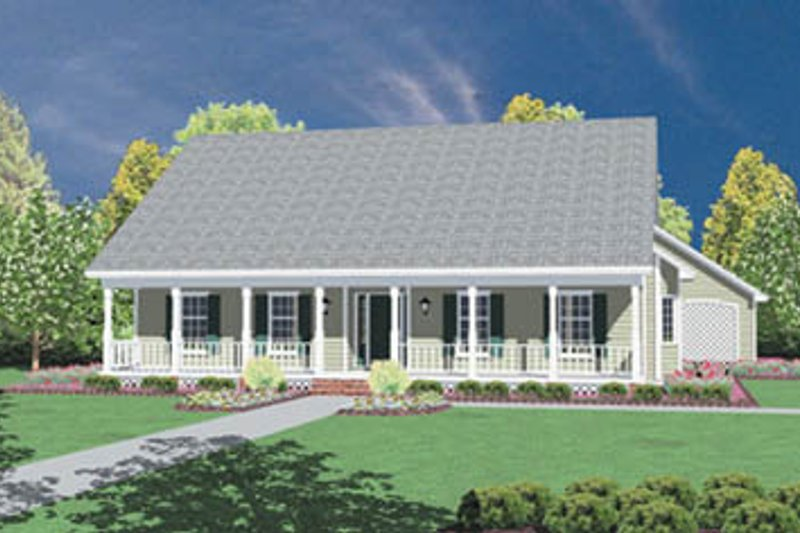 Traditional Exterior - Front Elevation Plan #36-169 - Houseplans.com