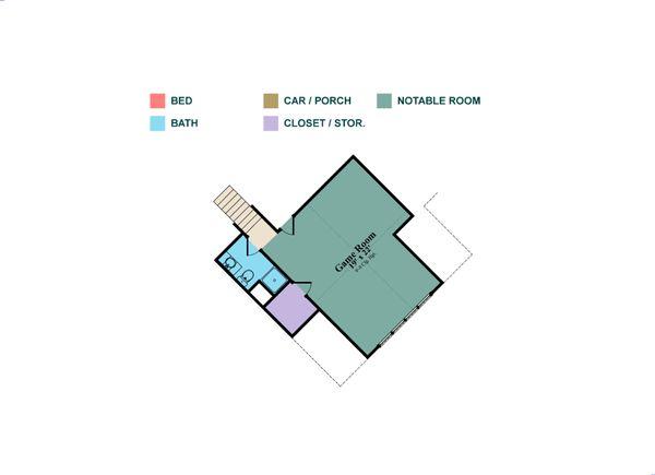 Home Plan - European Floor Plan - Upper Floor Plan #63-408