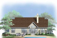 Country Exterior - Rear Elevation Plan #929-429