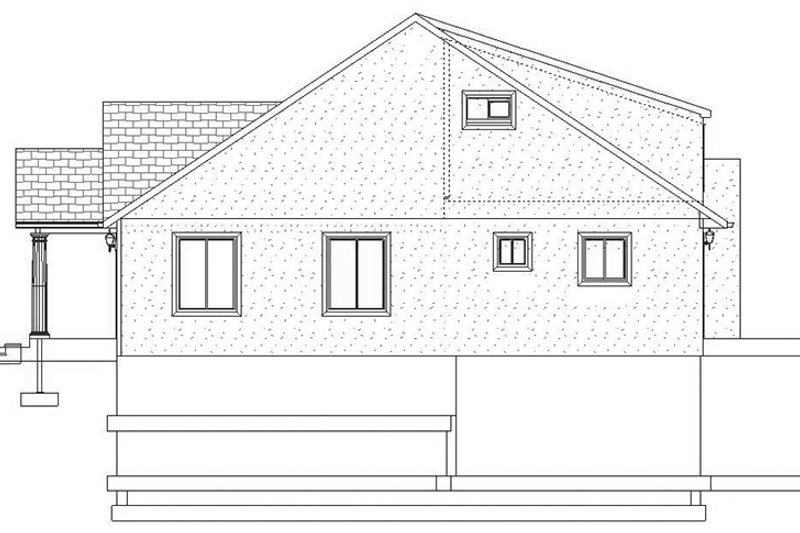 Traditional Exterior - Other Elevation Plan #1060-20 - Houseplans.com