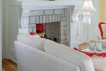 Colonial Interior - Family Room Plan #928-179