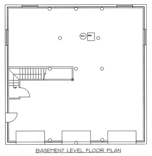 Log Floor Plan - Lower Floor Plan Plan #117-501