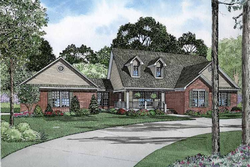 Country Exterior - Front Elevation Plan #17-2827 - Houseplans.com