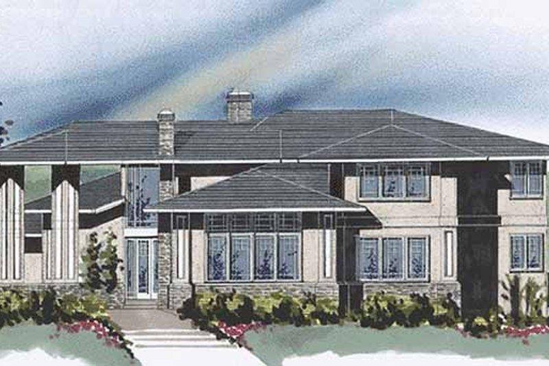 Prairie Exterior - Front Elevation Plan #509-426