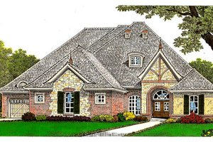 Tudor Exterior - Front Elevation Plan #310-659