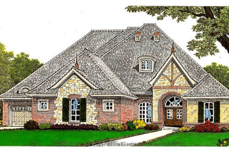 House Plan Design - Tudor Exterior - Front Elevation Plan #310-659