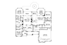 Craftsman Floor Plan - Main Floor Plan Plan #929-905