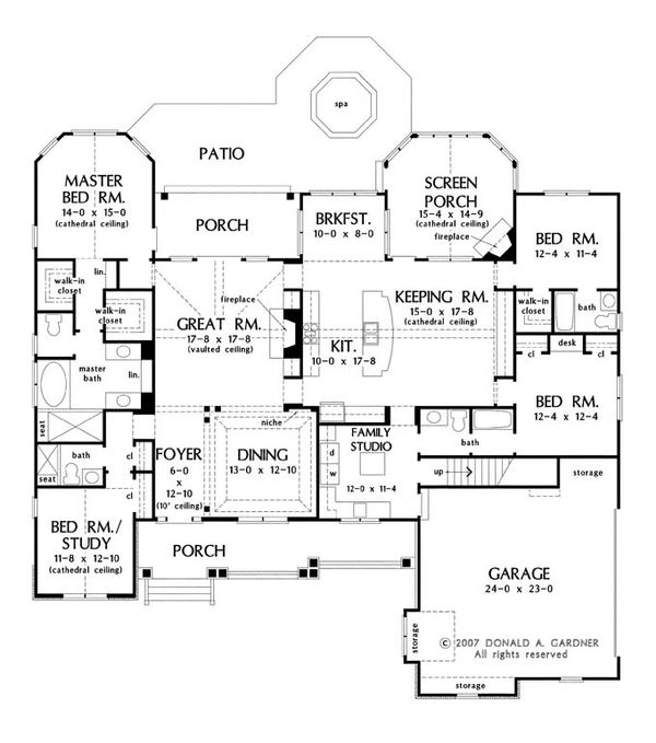 Craftsman Floor Plan - Main Floor Plan Plan #929-905