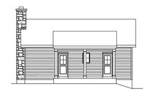 House Plan Design - Cottage Exterior - Rear Elevation Plan #22-566