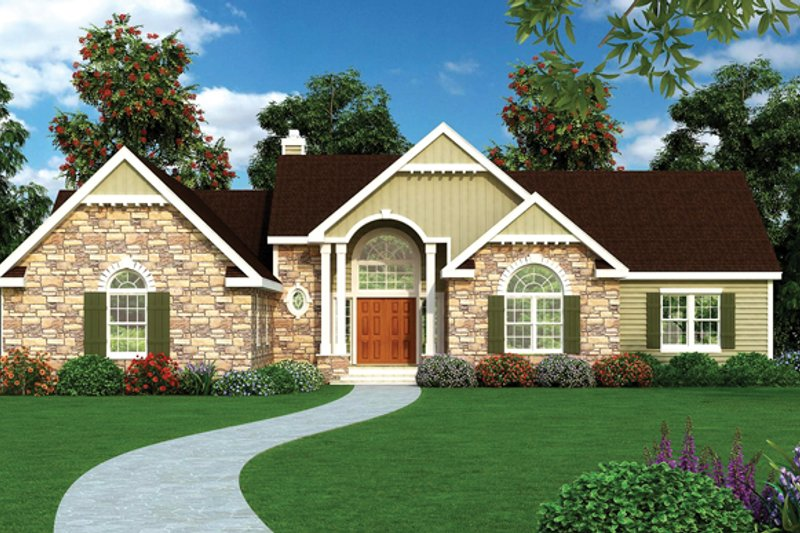 Craftsman Exterior - Front Elevation Plan #314-289 - Houseplans.com