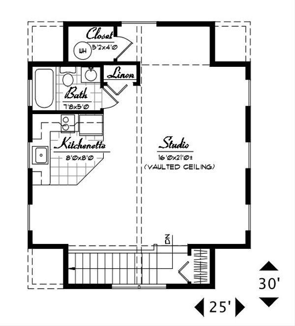 Craftsman Floor Plan - Upper Floor Plan #487-4