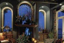 Architectural House Design - Mediterranean Interior - Family Room Plan #1039-2