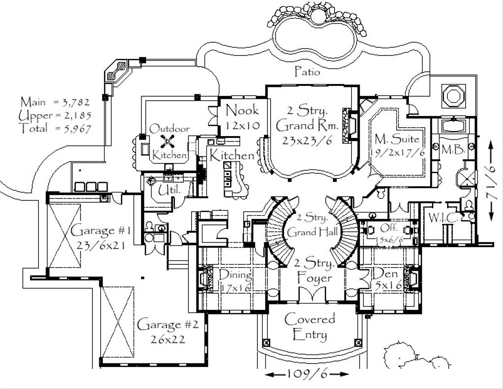 House plan 4 beds 4 baths 5967 sq ft plan 509 69 for 509 plan