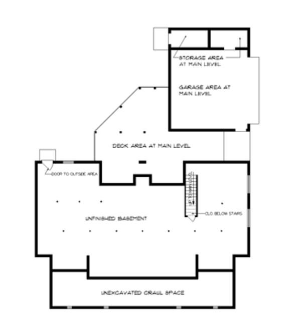 Victorian Floor Plan - Lower Floor Plan Plan #45-467