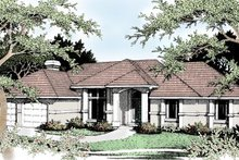 Home Plan Design - European Exterior - Front Elevation Plan #92-113