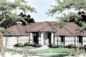 Architectural House Design - European Exterior - Front Elevation Plan #92-113