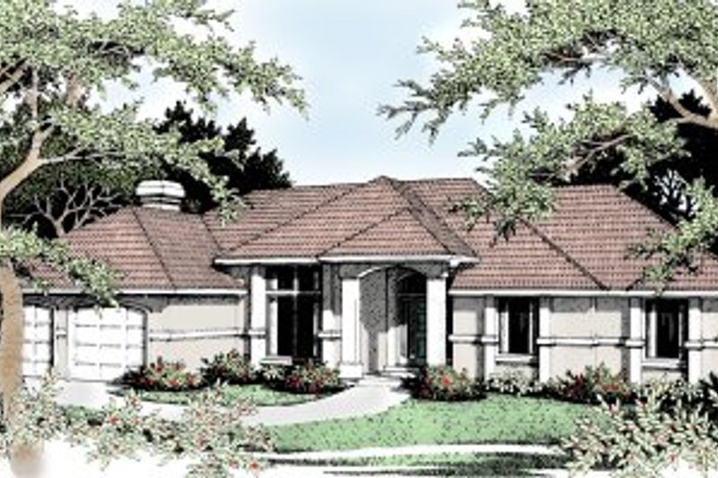 European Exterior - Front Elevation Plan #92-113 - Houseplans.com