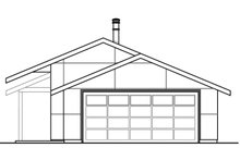 Ranch Exterior - Rear Elevation Plan #124-983