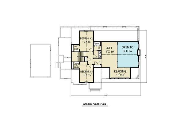 House Design - Cottage Floor Plan - Upper Floor Plan #1070-61