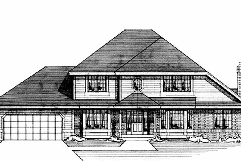 Traditional Exterior - Front Elevation Plan #51-901 - Houseplans.com