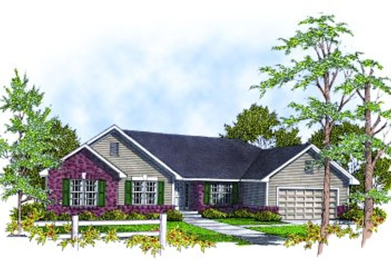 Traditional Exterior - Front Elevation Plan #70-144 - Houseplans.com