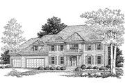 Traditional Style House Plan - 4 Beds 2.5 Baths 2868 Sq/Ft Plan #70-461 Exterior - Front Elevation