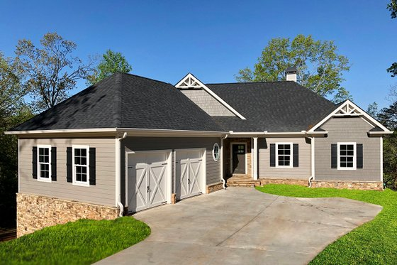 Dream House Plan - Ranch Exterior - Front Elevation Plan #437-88