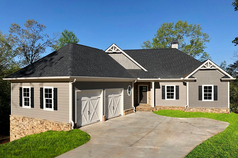 Architectural House Design - Ranch Exterior - Front Elevation Plan #437-88
