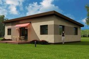 Modern Style House Plan - 3 Beds 1 Baths 1098 Sq/Ft Plan #538-14 Exterior - Rear Elevation
