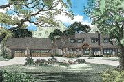 Craftsman Style House Plan - 5 Beds 5.5 Baths 4501 Sq/Ft Plan #17-2444 Exterior - Front Elevation