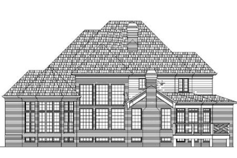 European Exterior - Rear Elevation Plan #119-349 - Houseplans.com