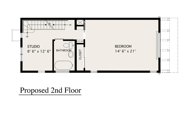 Modern Floor Plan - Upper Floor Plan Plan #905-4