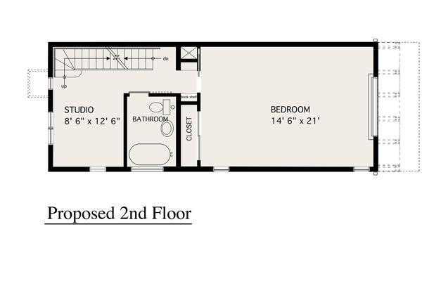 Modern Floor Plan - Upper Floor Plan Plan #905-4