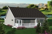 Ranch Style House Plan - 2 Beds 2 Baths 1459 Sq/Ft Plan #70-1041 Exterior - Rear Elevation