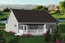 Ranch Exterior - Rear Elevation Plan #70-1041