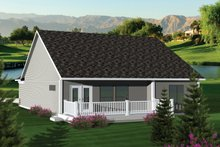 Dream House Plan - Ranch Exterior - Rear Elevation Plan #70-1041