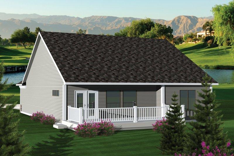 Ranch Exterior - Rear Elevation Plan #70-1041 - Houseplans.com
