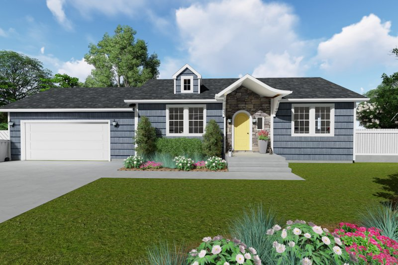 Ranch Exterior - Front Elevation Plan #1060-28