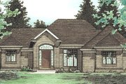 European Style House Plan - 3 Beds 2.5 Baths 2083 Sq/Ft Plan #20-153 Exterior - Front Elevation