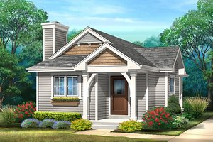 House Design - Cottage Exterior - Front Elevation Plan #22-597