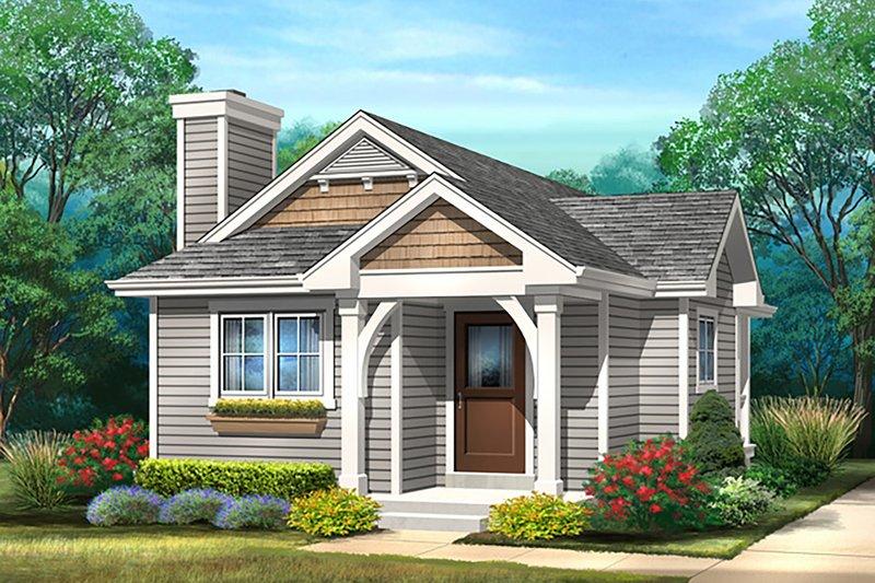 Dream House Plan - Cottage Exterior - Front Elevation Plan #22-597