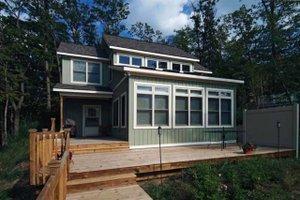 House Blueprint - Traditional Exterior - Rear Elevation Plan #928-105