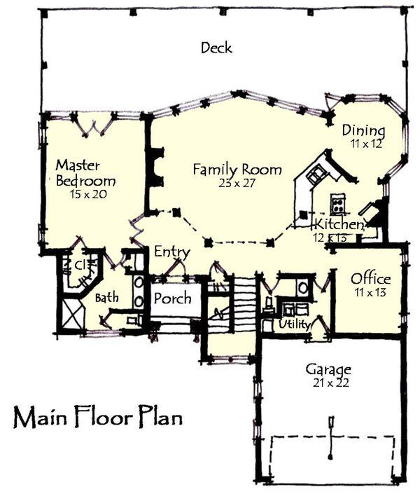 Craftsman Floor Plan - Main Floor Plan Plan #921-13