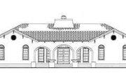 Mediterranean Style House Plan - 4 Beds 3.5 Baths 3163 Sq/Ft Plan #72-177 Exterior - Rear Elevation