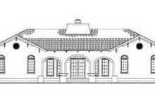 Mediterranean Exterior - Rear Elevation Plan #72-177