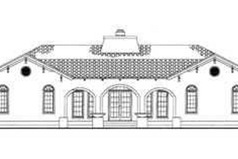 Mediterranean Exterior - Rear Elevation Plan #72-177 - Houseplans.com