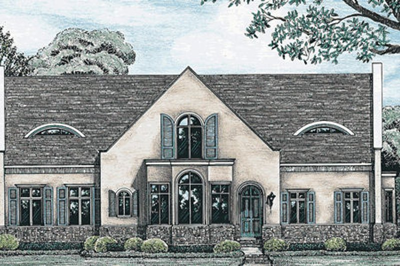 European Exterior - Front Elevation Plan #20-961