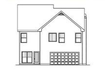 Dream House Plan - Traditional Exterior - Rear Elevation Plan #419-206