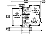 Country Style House Plan - 3 Beds 1 Baths 1114 Sq/Ft Plan #25-4500 Floor Plan - Main Floor Plan
